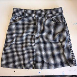 brandy john galt checkered skirt